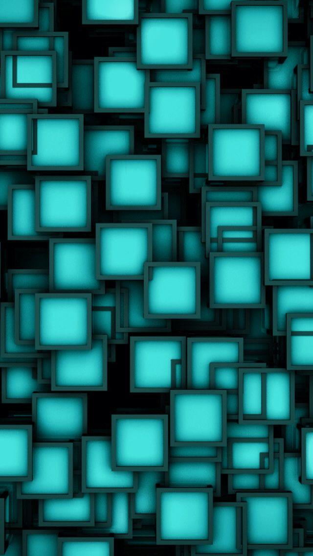 Black Aqua Turquoise Neon Wallpaper