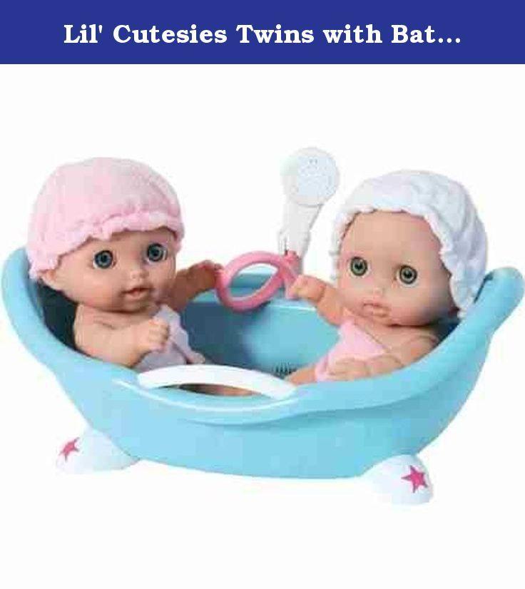 Lil\' Cutesies Twins with Bathtub - Toys & Games - Dolls & Dollhouses ...