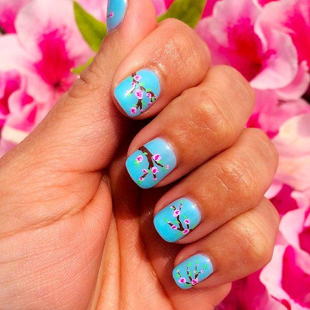 Cherry Blossom Chill // Spring Nail Art Ideas