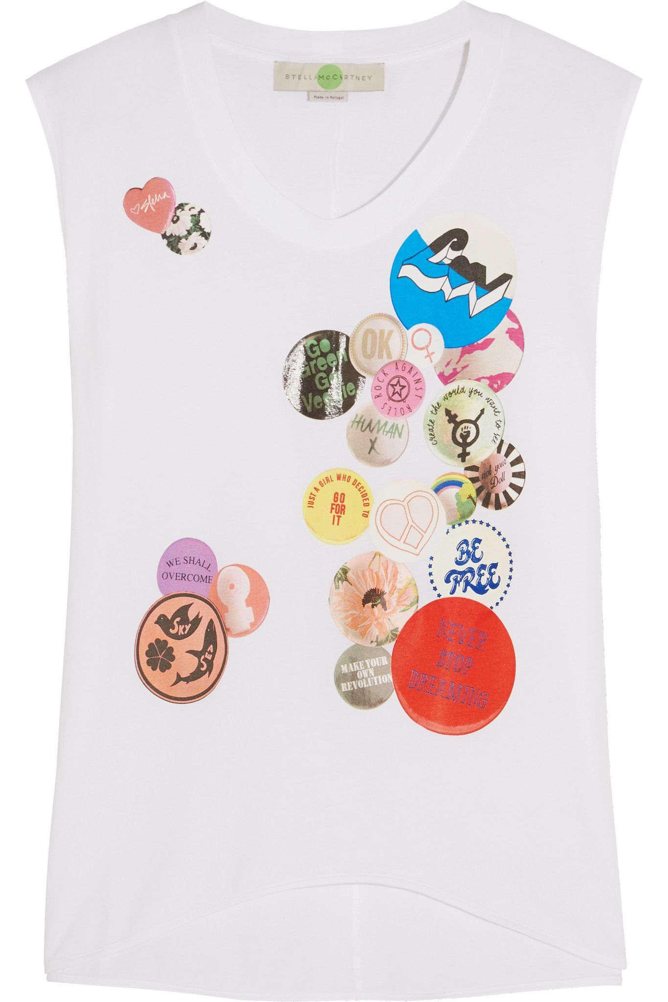 STELLA MCCARTNEY Oversized printed cotton-jersey T-shirt  $265.00 https://www.net-a-porter.com/products/645571