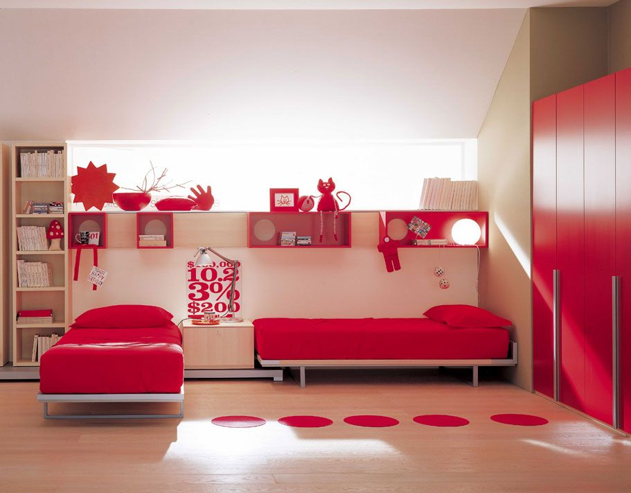 Berloni Bedroom For Kids | Decorating ideas | Pinterest | Red ...