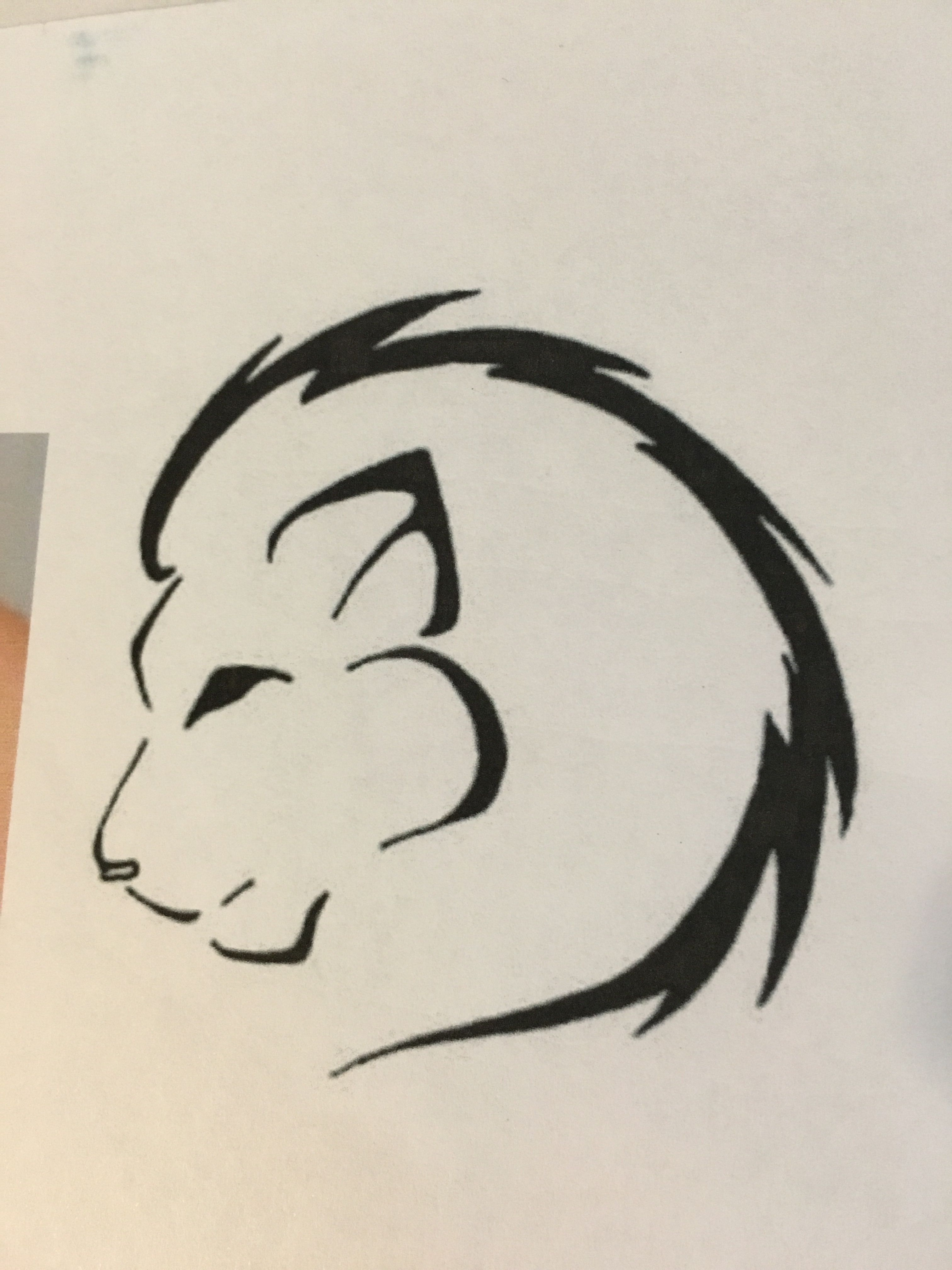 Lion outline tattoo idea … (With images) Simple lion