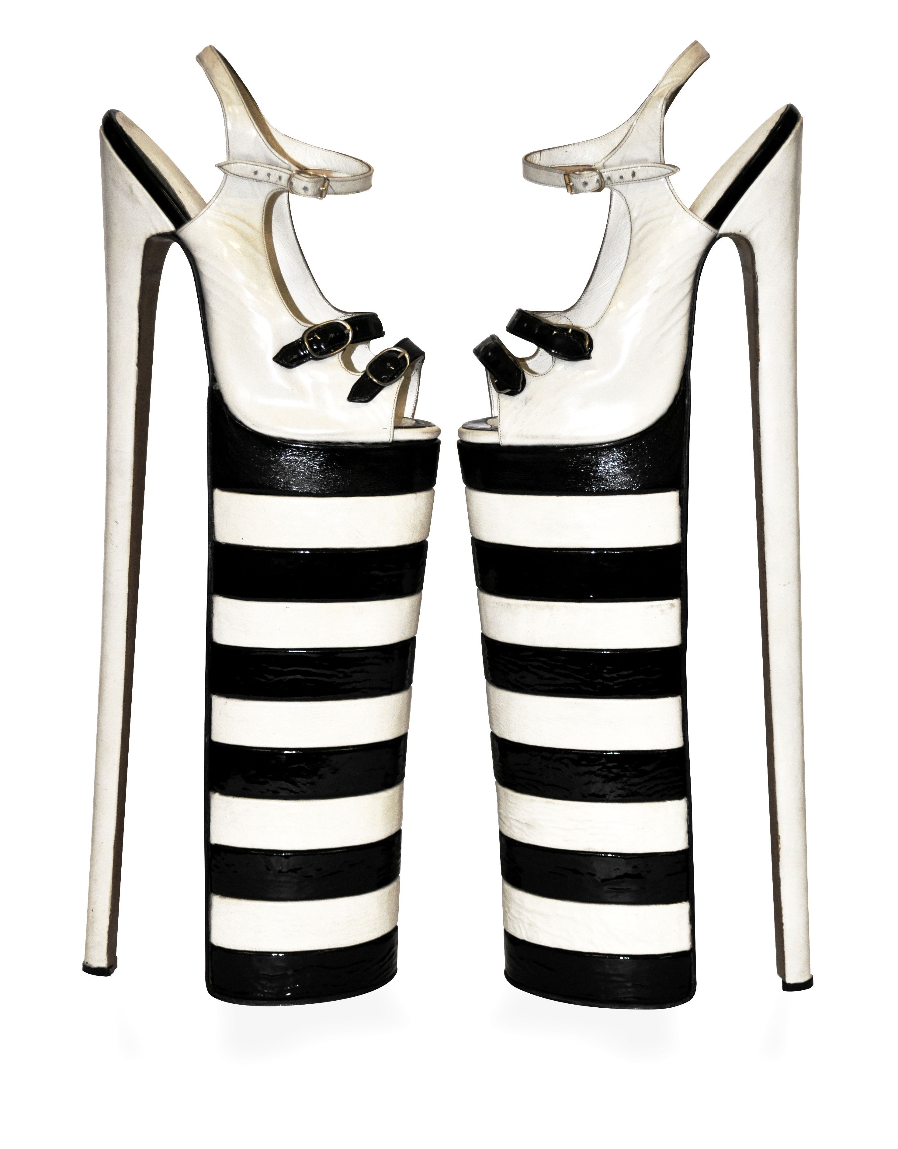 Out On The Town Imitation Leather Platform Shoes Cypriana Shoes
