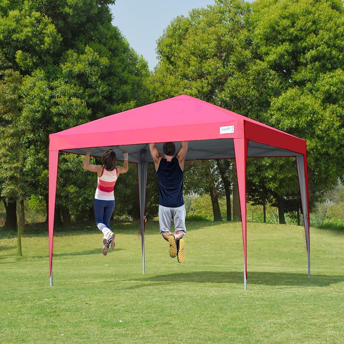 Quictent No Side Upgraded 10 X 10 Pop Up Canopy Pink Tent Design Canopy Canopy Tent