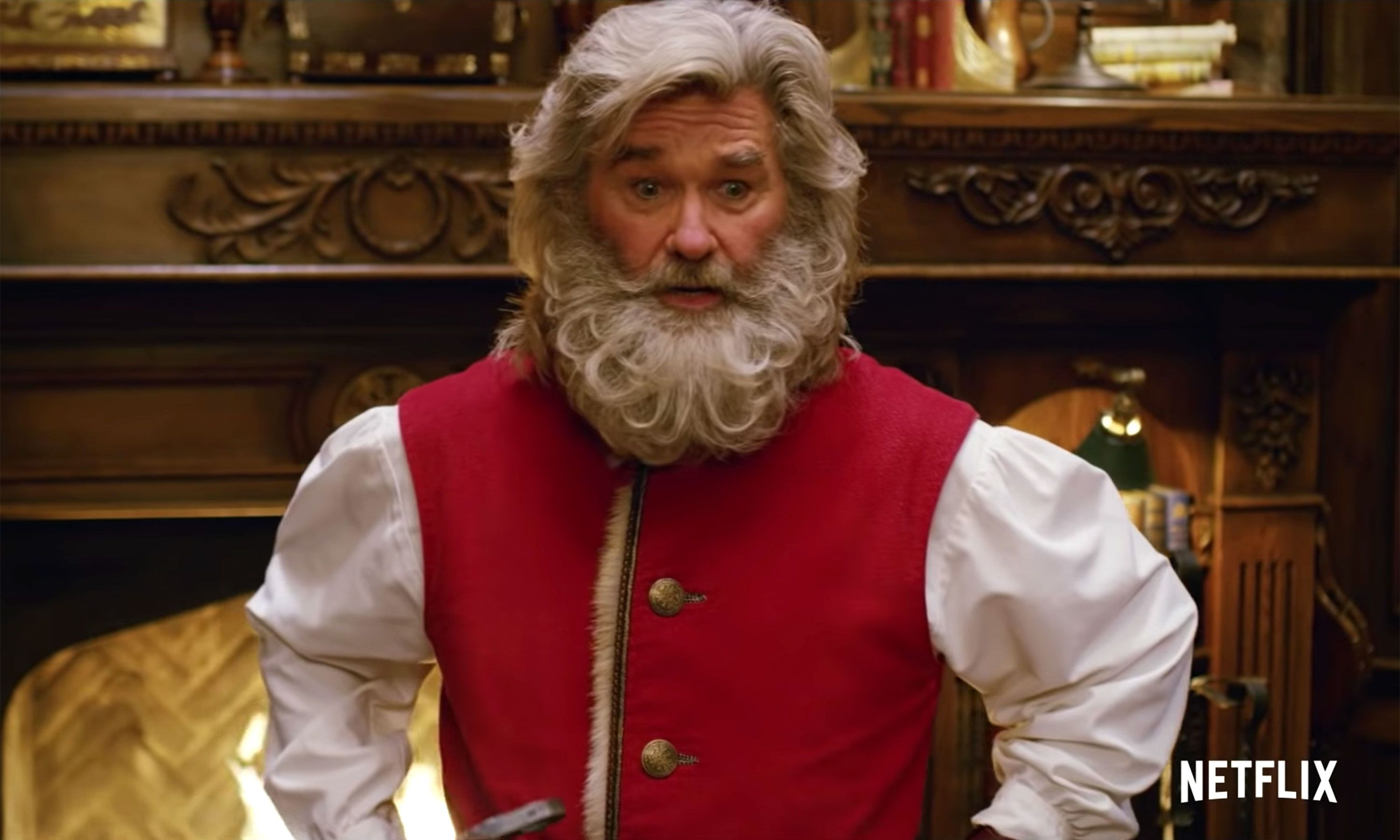 Kurt Russell S Cool Santa Is On A Quest To Save The Holidays In The Christmas Chronicles Teaser Christmas Movies Netflix Christmas Movies Kurt Russell