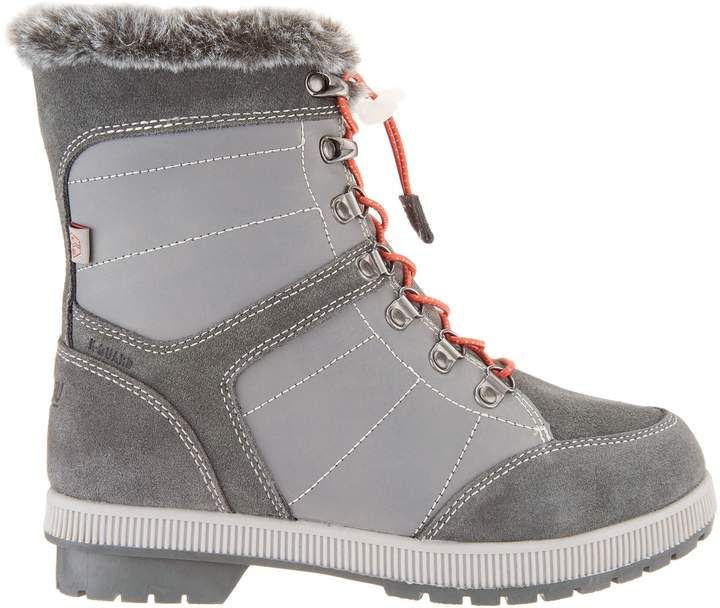 352f506566b Khombu Leather and Suede Lace-Up Winter Boots - Janet #Suede#Leather ...