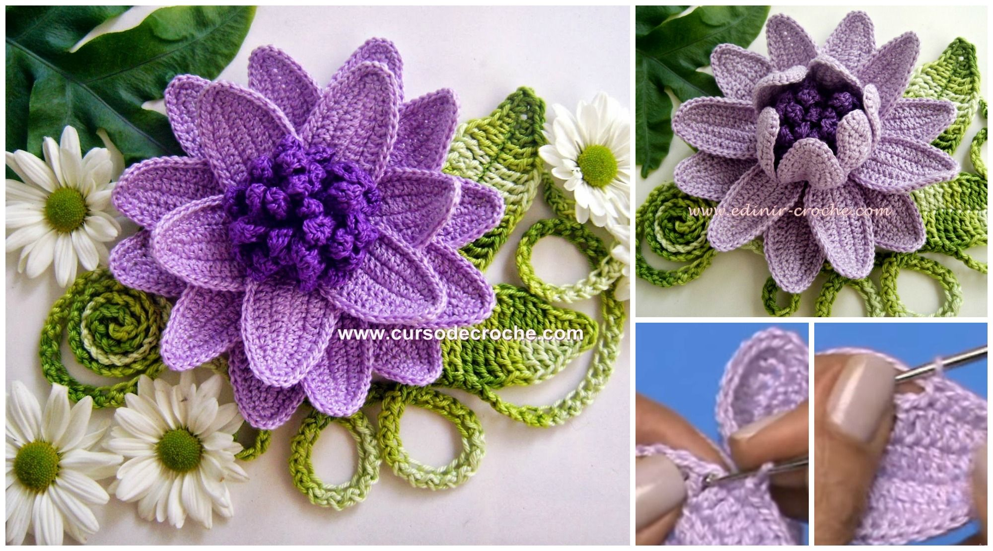 Crochet Beautiful Flower Crochet Flowers Plants Pinterest