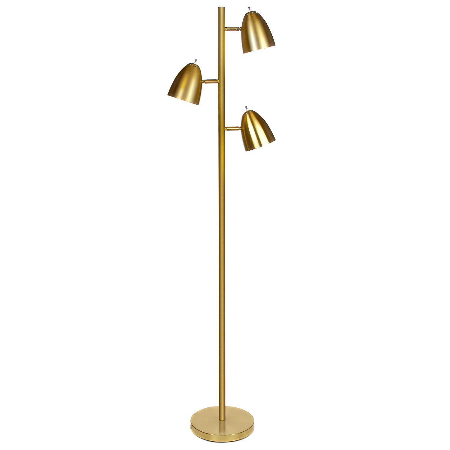 Brightech Jacob Led Reading And Floor Lamp Classy Modern Standing Industrial 3 Way Tree Lamp Adjustable Omnidirectio Lamps Living Room Pole Lamps Floor Lamp
