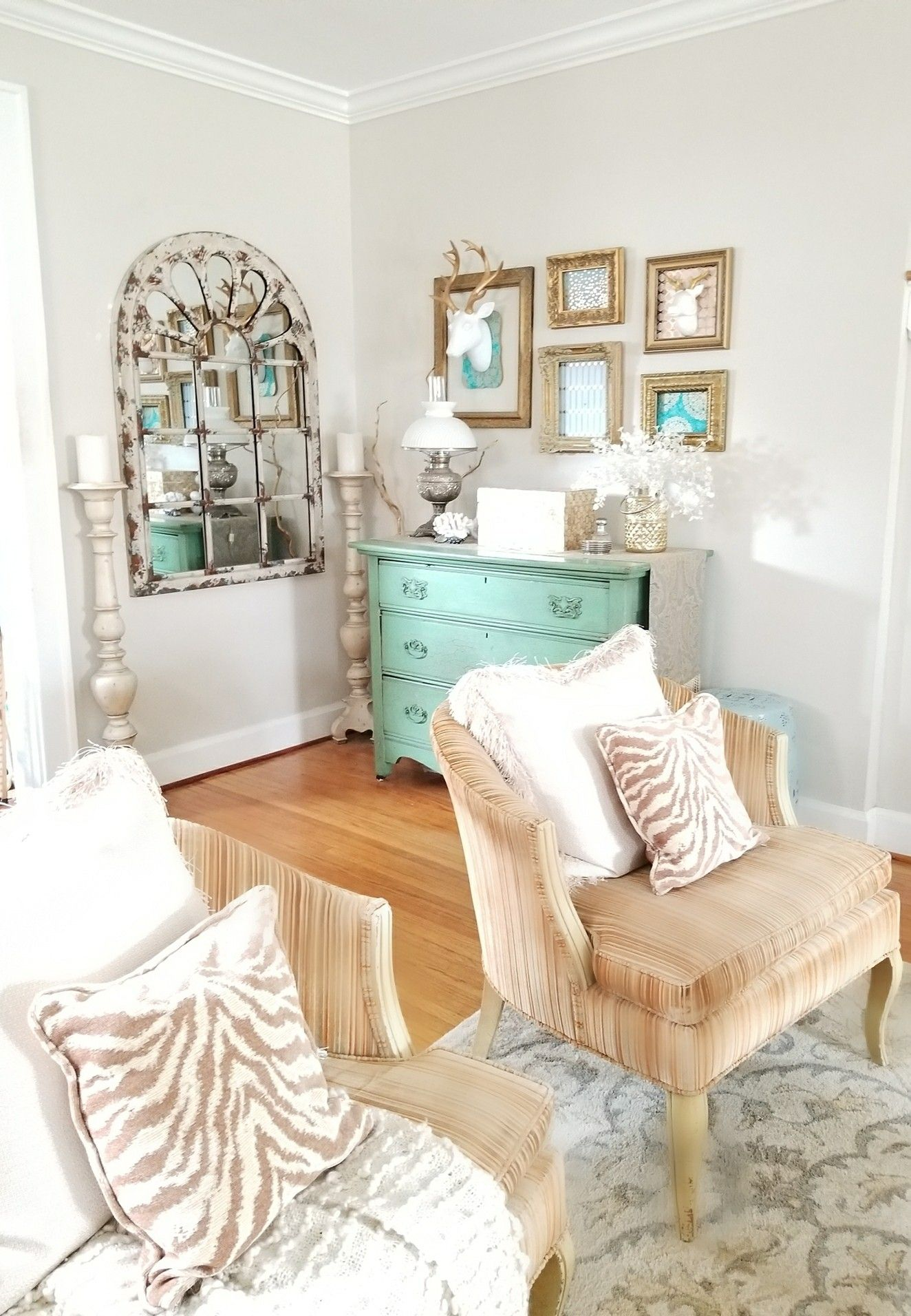 Gold White With A Splash Of Color Sitting Room Bedroom Decor Living