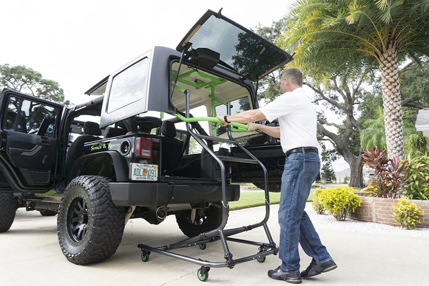 Toplift Pros Jeep Hardtop Remove And Storage Device Jeep