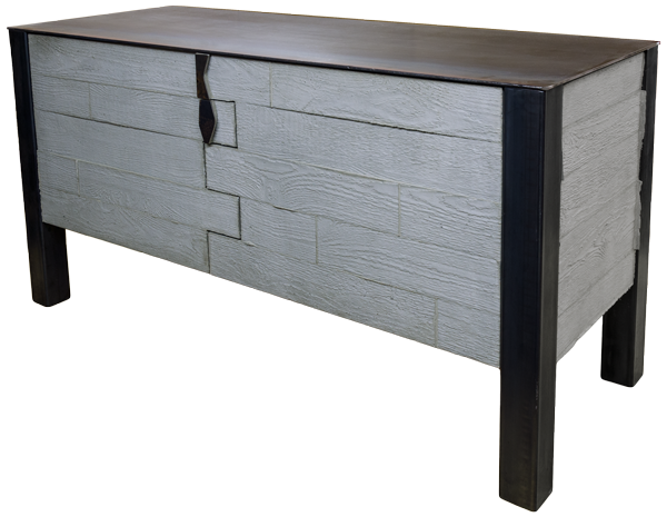 "Brutally elegant. Another ""world's first"" concrete cabinet from mc2mt.com  Loft nine combines steel, board formed concrete, and our proprietary manufacturing methods to create stunning furniture pieces."