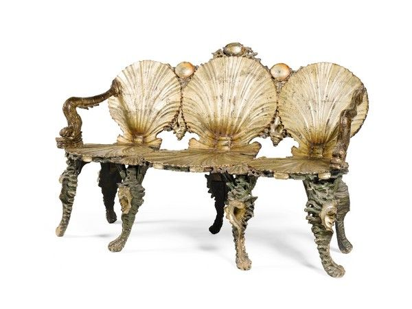Charmant A SUITE OF GROTTO FURNITURE (1850 To 1900 Venice)