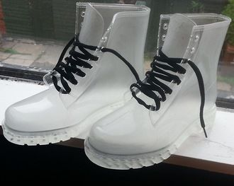 4773d5d70b2f clear clear boots plastic plastic shoes drmartens soft grunge grunge shoes  grunge accessory timberland shoes transparents needtohave boots transparent  shoes ...