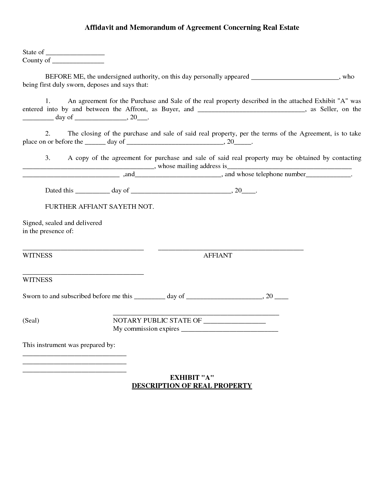 Real estate Real estate contract, Purchase agreement