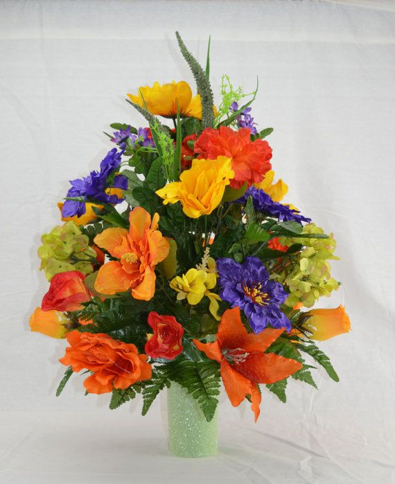 No 5023 Fall Cemetery Arrangement Autumn Cone Flower Cone Arrangement Grave Cemetery Flowers Fall Flower Arrangements Flower Arrangements Diy Artificial