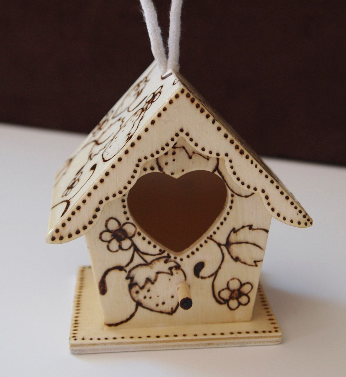Pyrography Birdhouse by LoveThistleArts on Etsy, $10.00
