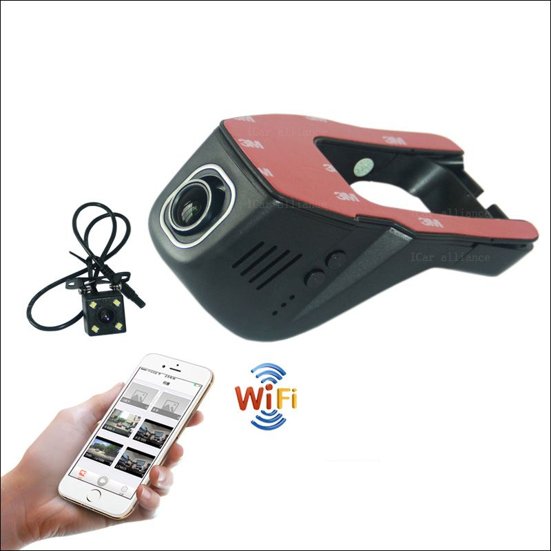 APP Control Car Wifi DVR Car Dash Cam For Nissan Bluebird Sylphy hidden type Novatek 96655 WDR Dual lens Car Black Box