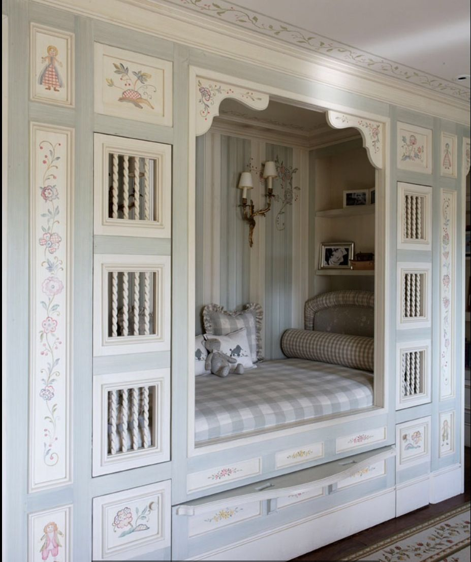 Built In Bed Nook Built In Bed Bedrooms In 2019 Alcove Bed Built In Bed Box Bed