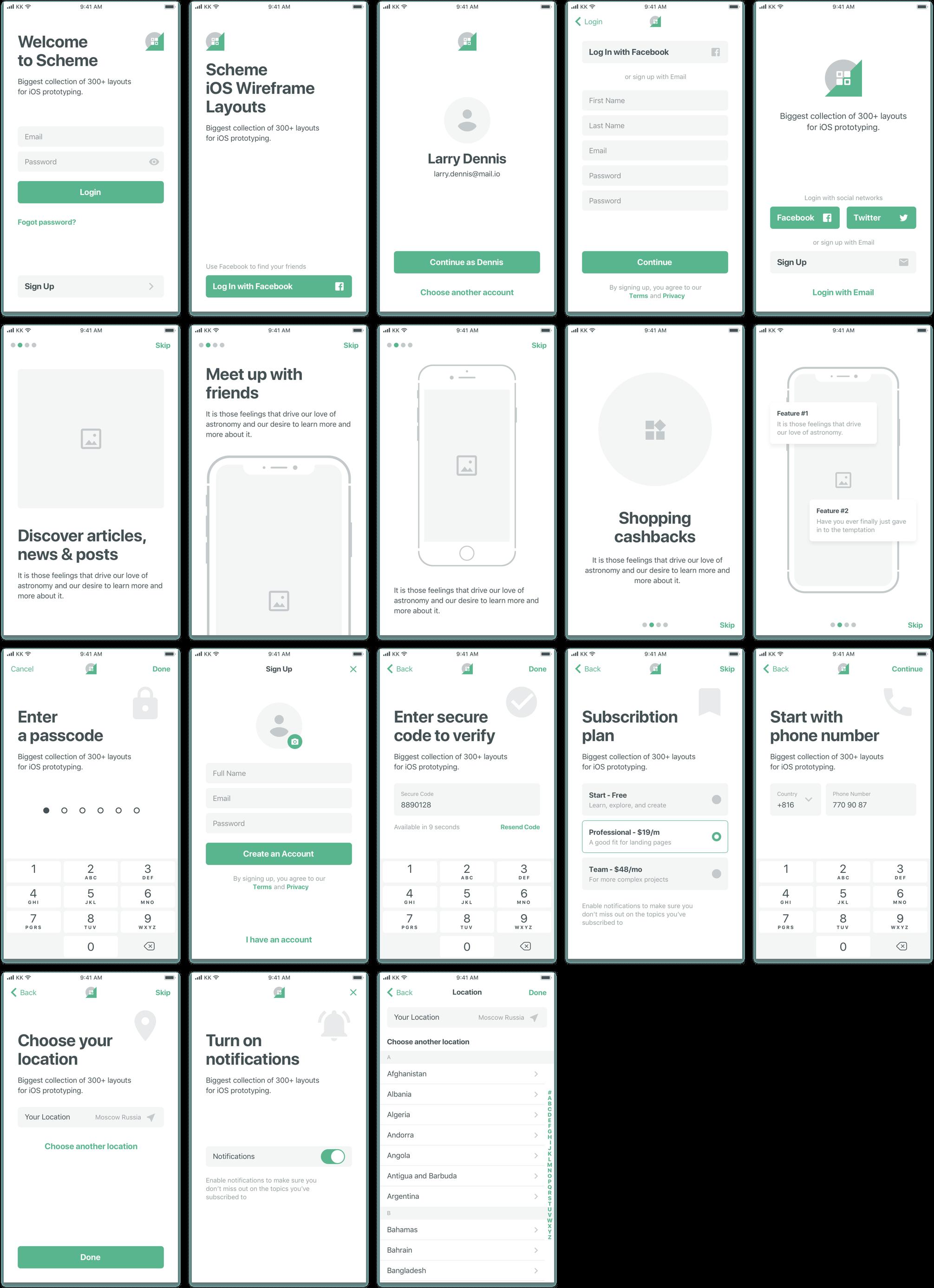 Scheme Ios Wireframe Kit In 2020 App Interface Design Wireframe Design App Design Layout