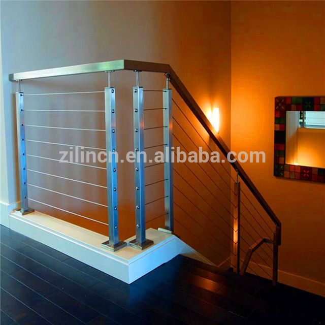 Source wire/cable stainless steel stair railing, indoor stair ...