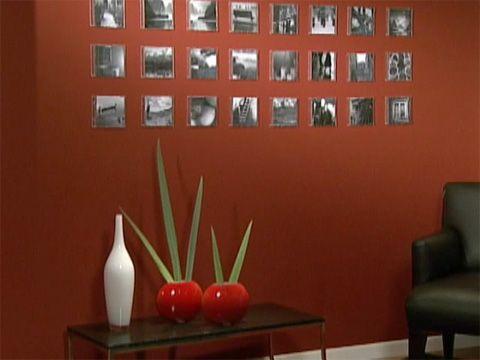 Utilisima Vídeos Mural fotográfico con cajas de cd Decoración