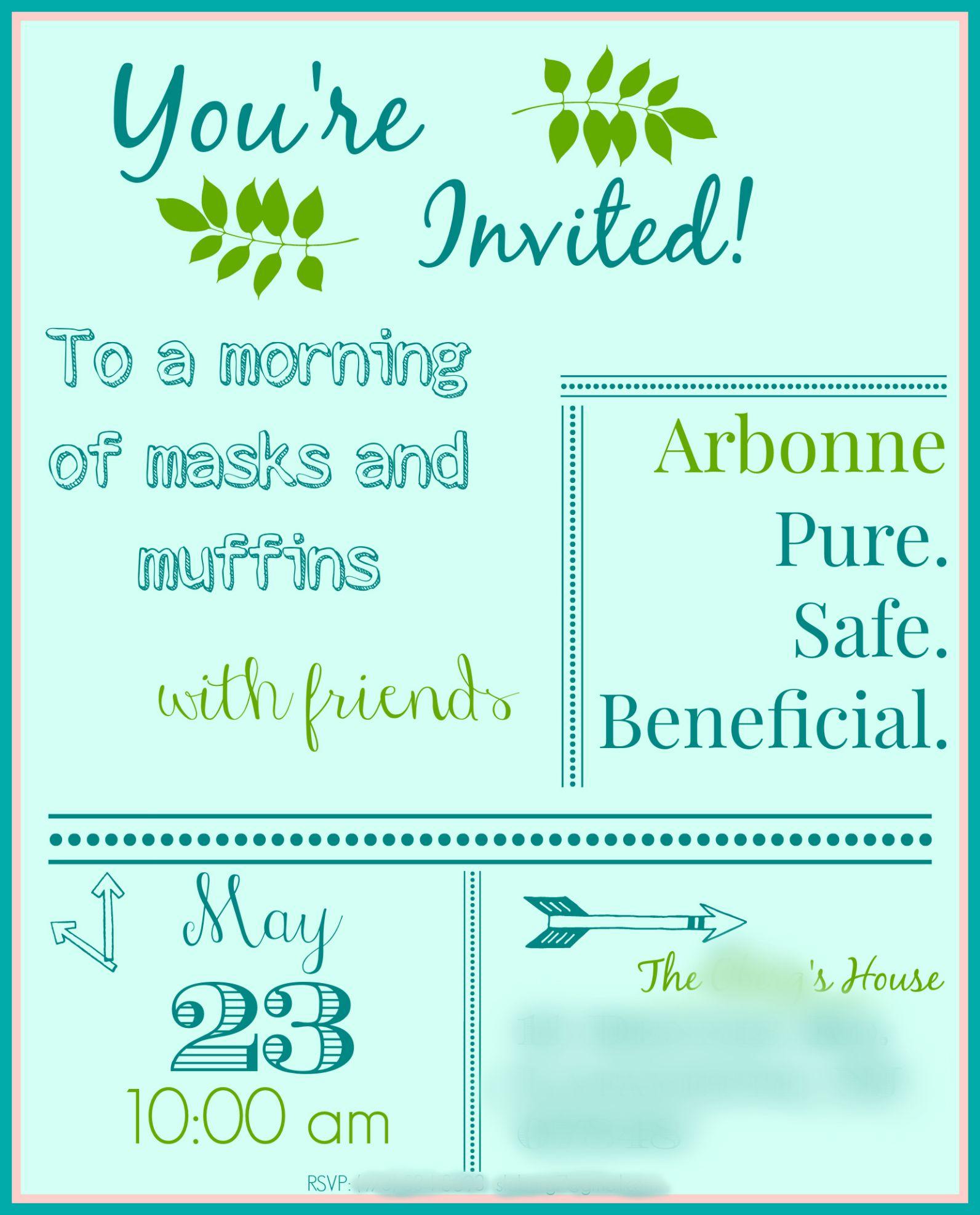 Arbonne Party Invite