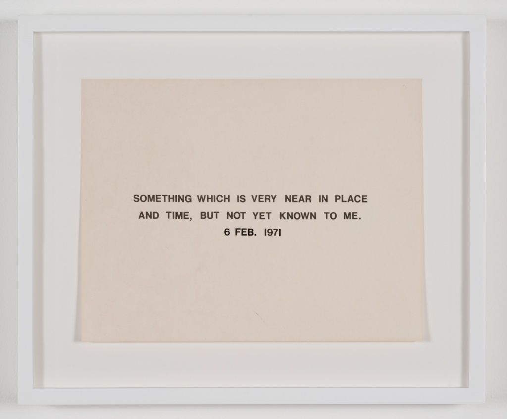 Robert Barry 1971 Print And Transfer Type On Paper Visual Poetry New Lyrics Cool Words