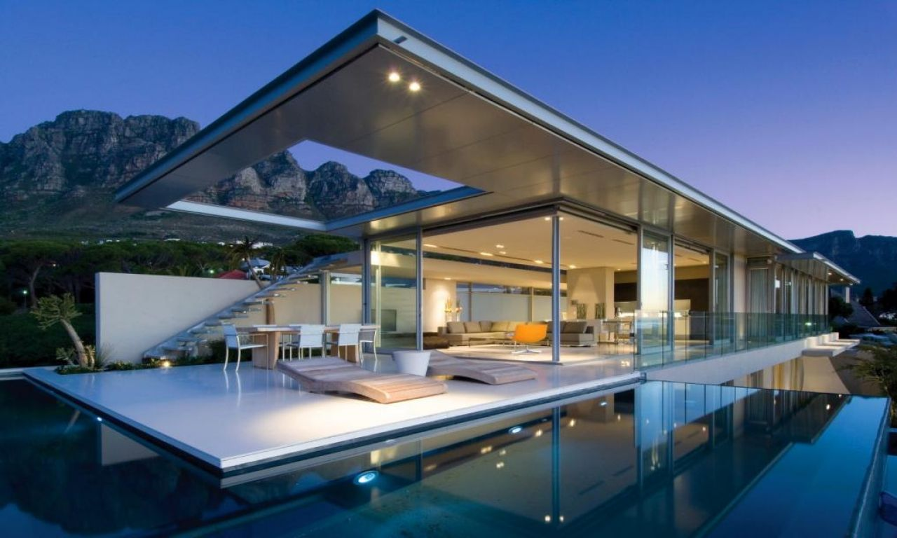 Most modern houses with pool modern house design