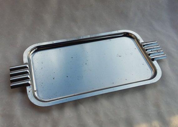 Modern Minimalist Serving Tray Platter with by TymelessTrinkets