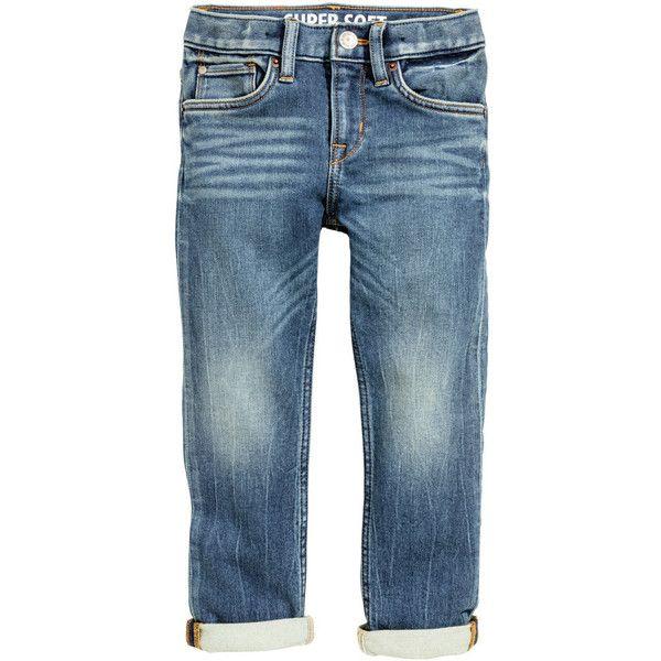 Super Soft Slim Jeans Rp 399,900 ❤ liked on Polyvore featuring jeans, slim cut jeans, blue jeans, slim leg jeans, slim fit blue jeans and slim blue jeans