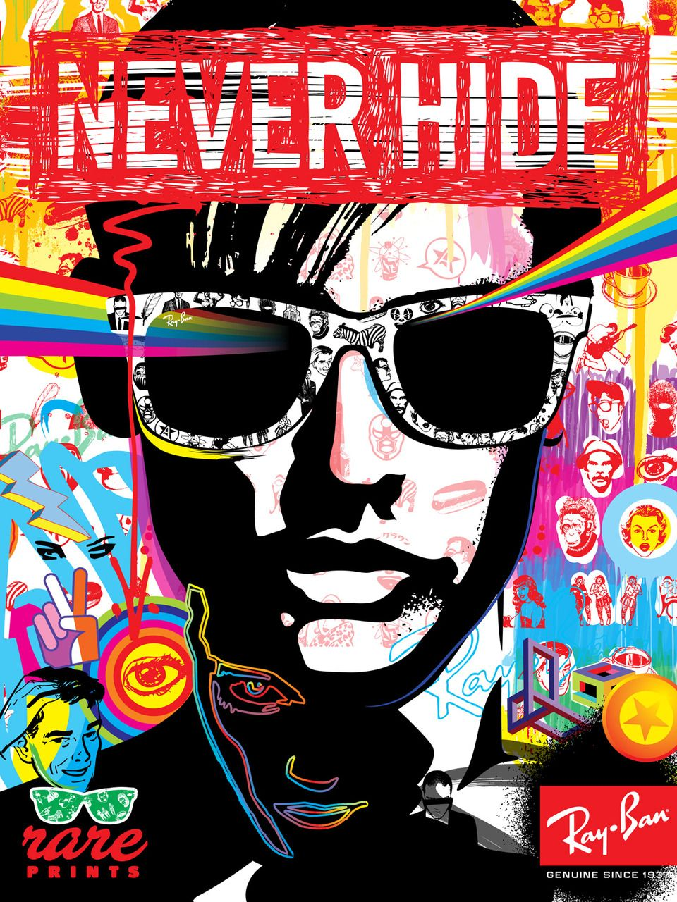 164ab8ae91f1 After working at a sunglass store we used these Ray Ban posters to bring in  customers through Ray Bans visually appeal and catchy slogan