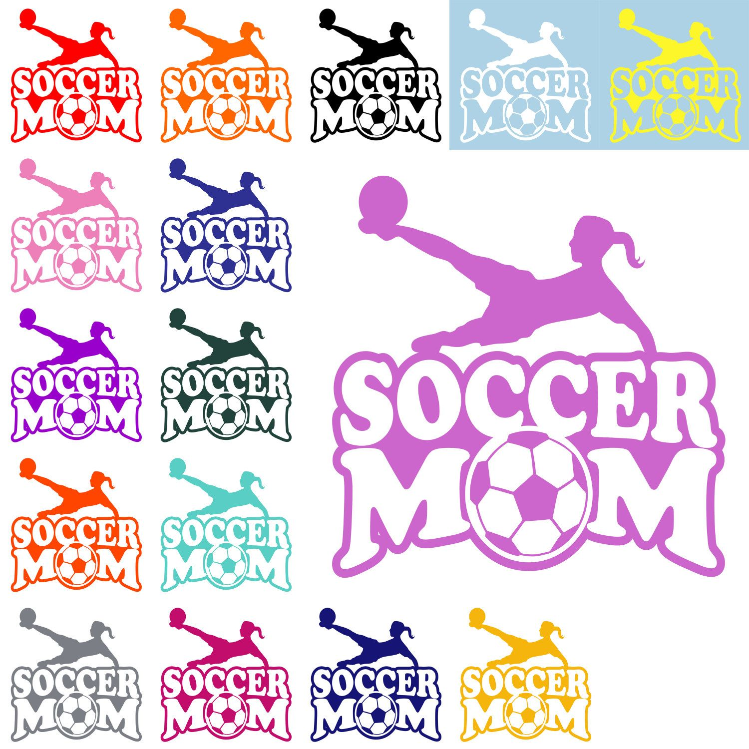 VOLLEYBALL MOM DECAL Volleyball Mom Sticker Sports Mom Decal - Window decals for cars sports