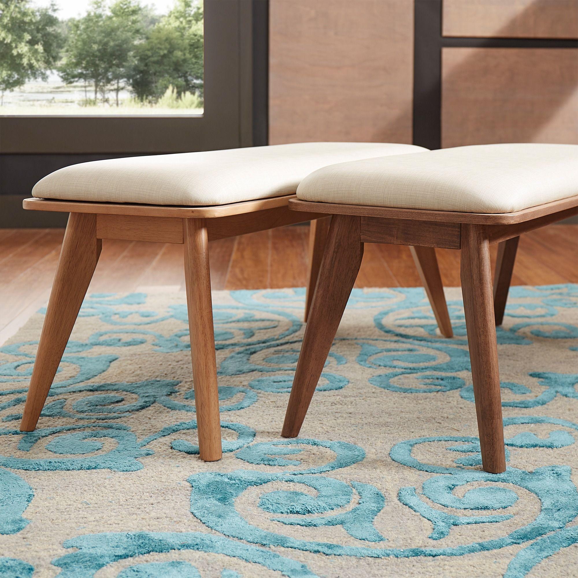 Penelope Danish Modern Upholstered Dining Bench INSPIRE Q