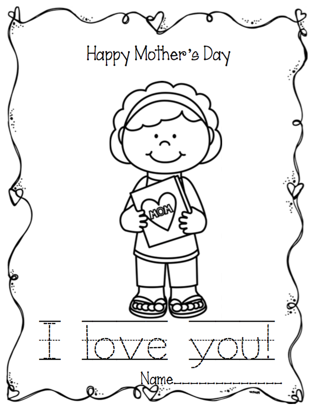 Preschool Printables: Mother's Day Writing & Coloring