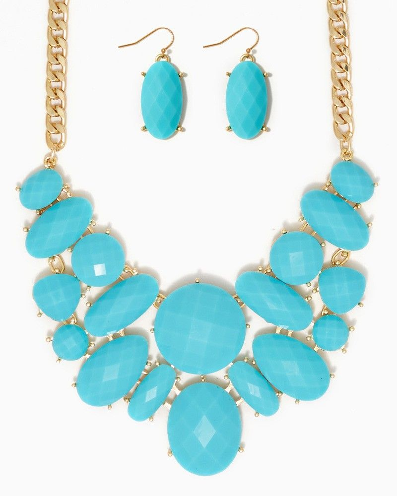 charming charlie | Annabella Bib Necklace Set | UPC: 410006283381 #charmingcharlie