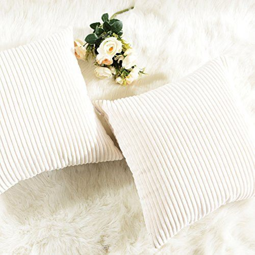 9f0b4824 FEATURES: Color: Cream. Measures: 18x18 inch (45x45cm), tailored for 18x18  inch insert. - PACKAGE: include 1 pc cushion cover. No cushion insert.