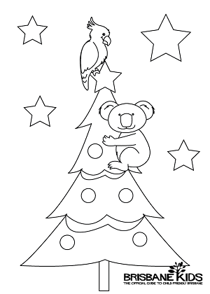 Christmas Colouring Sheets Themed With Australian Animals Brisbane Kids Christmas Colors Christmas In Australia Australian Christmas