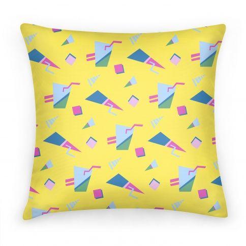 Yellow 80s/90s Pattern #pillow #80s #90s #90skid #90spattern #80spattern #80skid