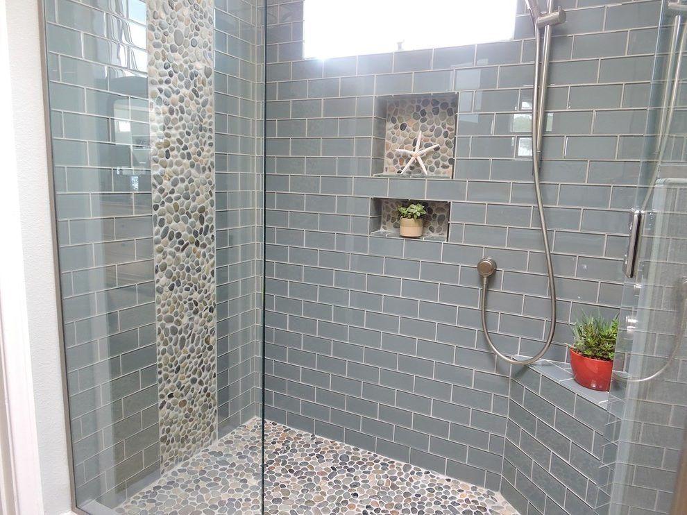Gentil Image Result For River Stone Tile Bathroom Accent