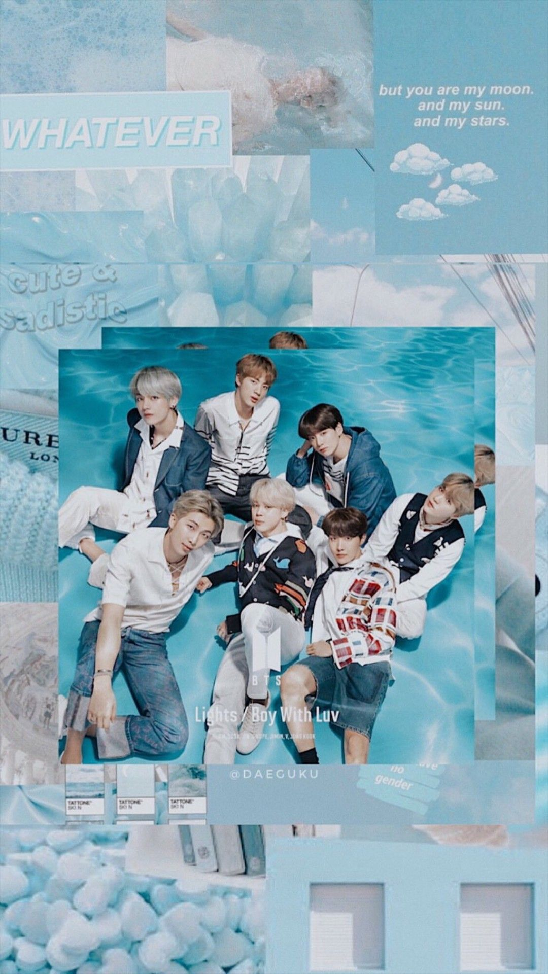 Wallpaper Lockscreen Hd Bts Blue Babyblue Bts Wallpaper Bts Aesthetic Wallpaper For Phone Baby Blue Aesthetic Aesthetic bts wallpaper blue