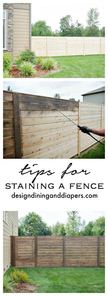 Freshen Up Your Fence This Summer Here Are Some Tips On Staining A Fence Backyard Fences