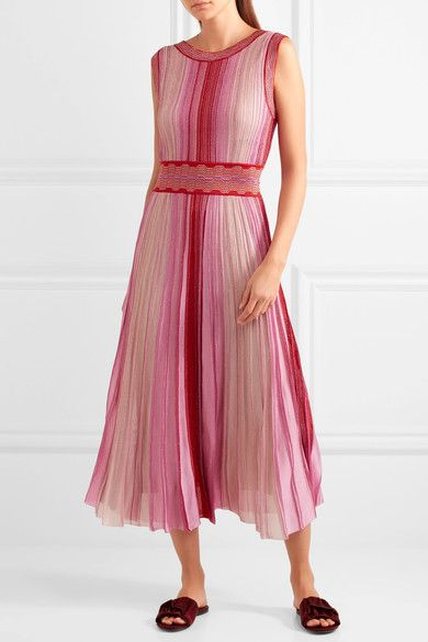 3f60f2c20 MISSONI Reversible metallic stretch-knit midi dress $1,880 Multicolored  stretch-knit Slips on 72% viscose, 17% rayon, 11% polyester; lining1: 96%  silk, ...