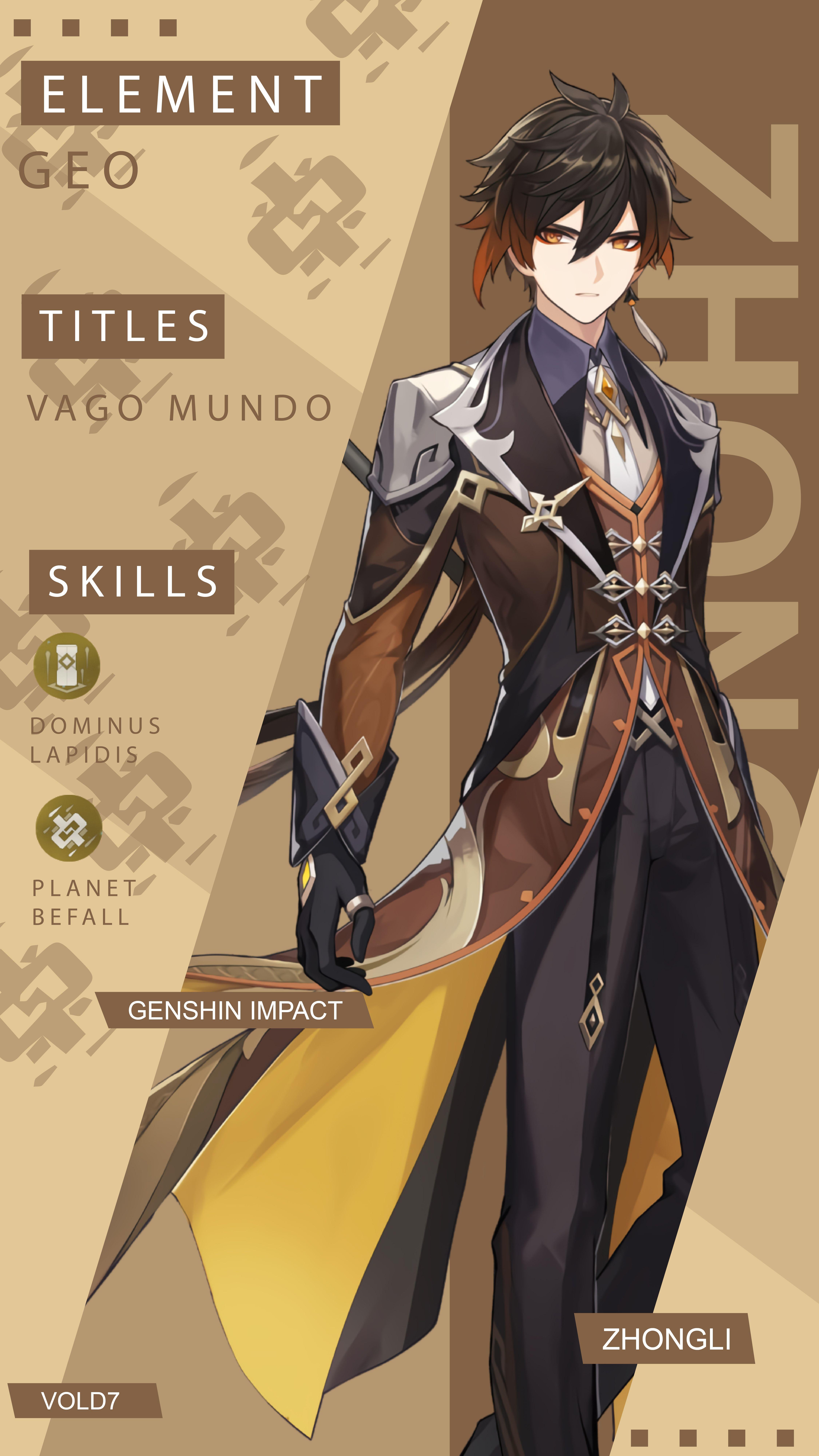 Genshin Impact Zhongli Wallpaper Android Impact Character Wallpaper Character Design Male