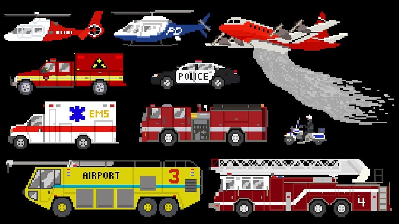 emergency vehicles book version rescue trucks fire police ambulance the kids picture show youtube emergency vehicles picture show police emergency vehicles book version