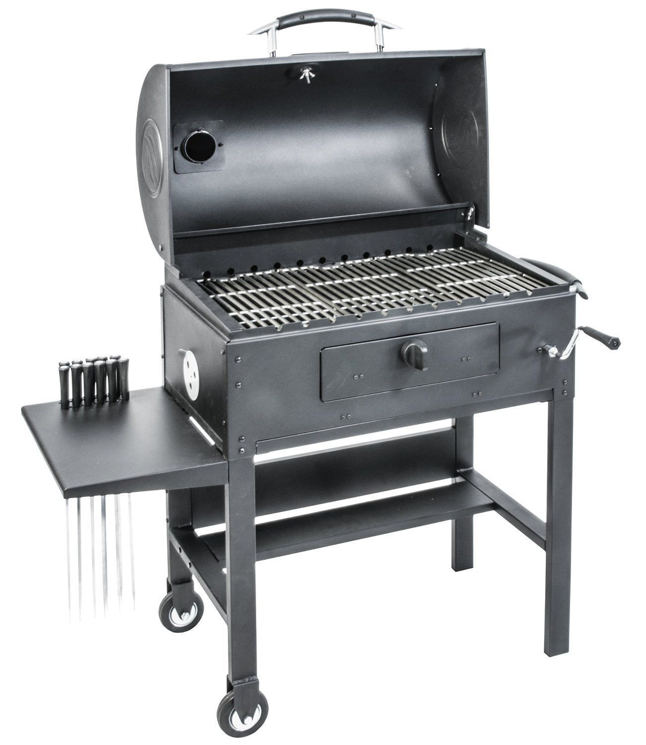 Blackstone Charcoal Grill Barbecue Smoker With Automatic