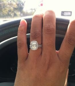 2.00 CTW Henri Daussi Cushion engagement ring!!! HUGE!