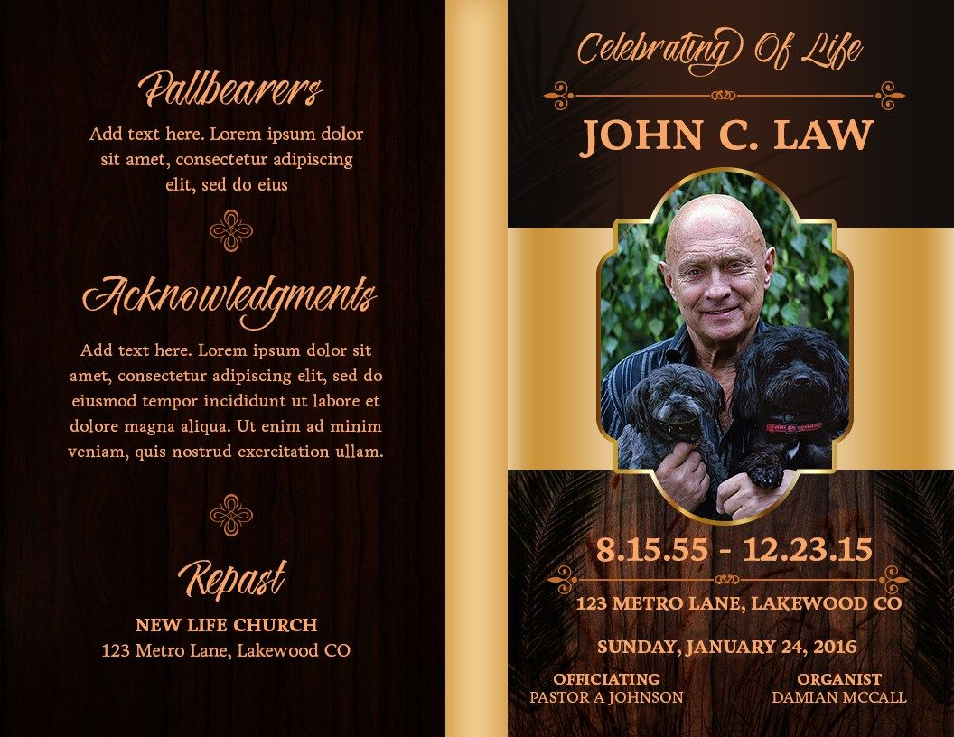 The Woodlands Obituary Template  Free Obituary Templates