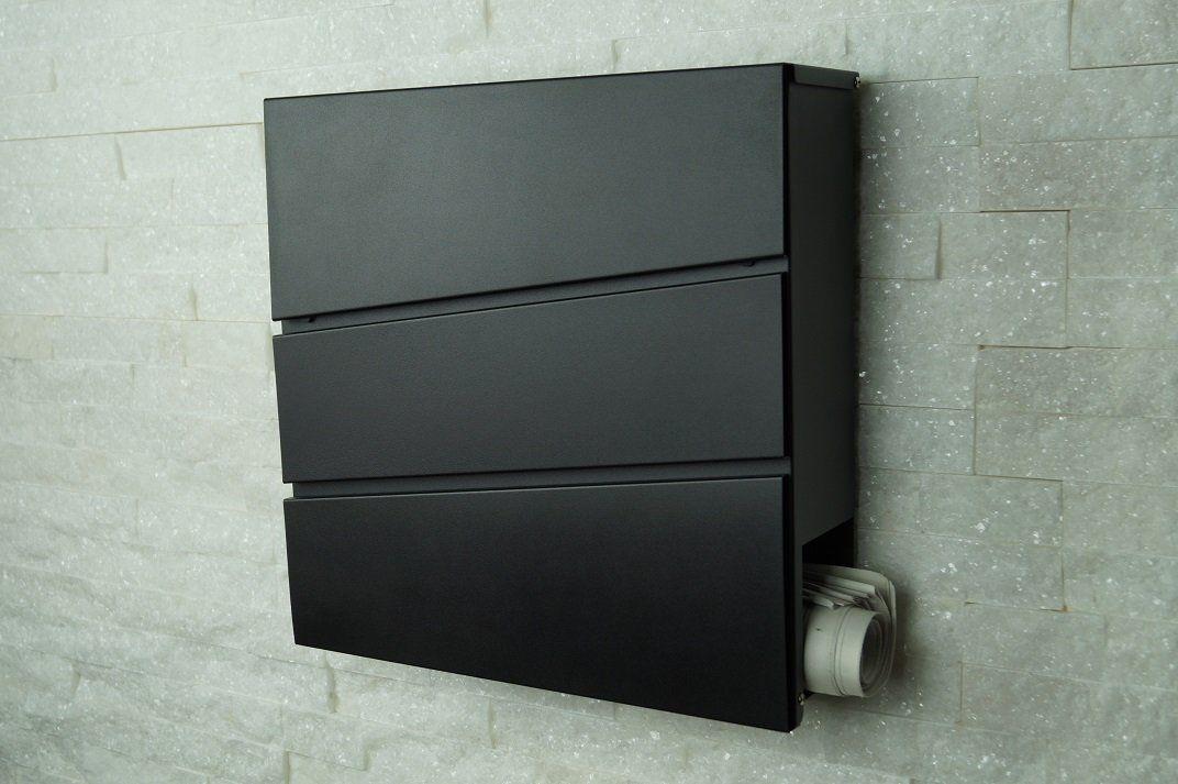 Fairpreis design 333 ral 7016 bo te aux lettres murale design avec compartiment pour journal - Boite aux lettres 2 portes gris anthracite ...