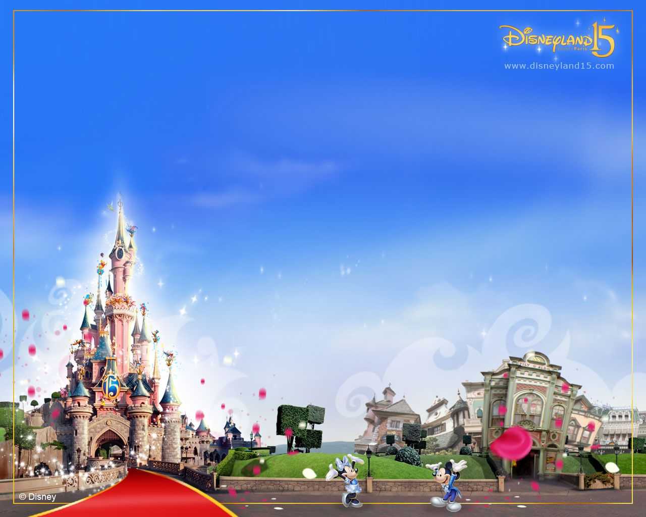 Disneyland Paris 15th anniversary creative
