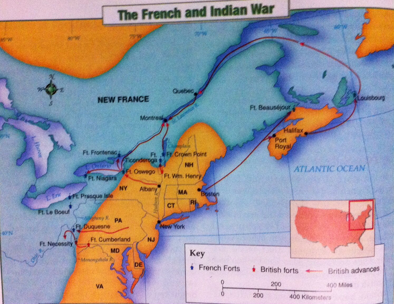 During The French And Indian War Britain And France